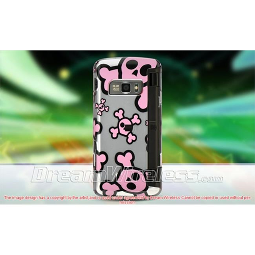 DreamWireless CALG11000SLPKSK LG Voyager Ii Env Touch Vx-11000 Crystal Case Silver With Pink Skull