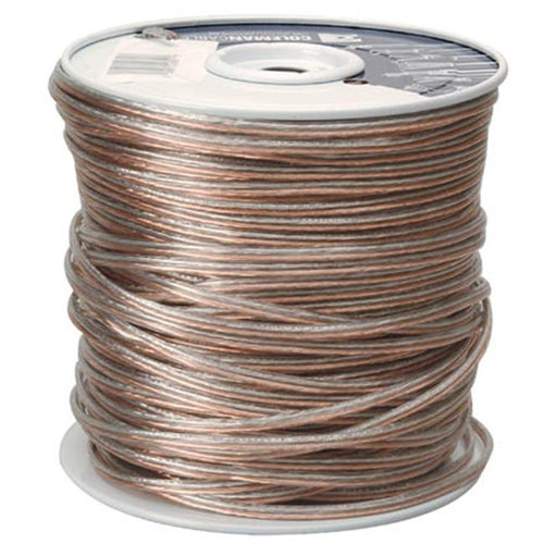 Coleman Cable 500ft. 24-2 Clear Speaker Wire 94601-66-18 - Pack of 500