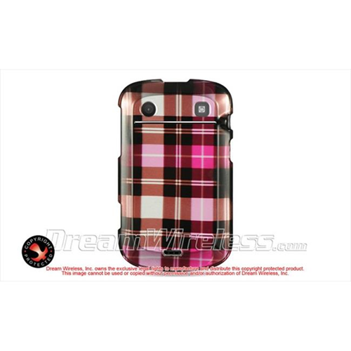 DreamWireless CABB9900HPCK Blackberry Dakota 9900 T-Mobile 9930 Verizon Crystal Case - Hot Pink Checker