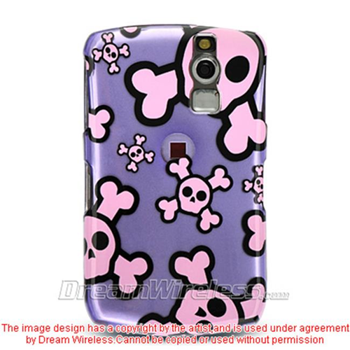 DreamWireless CABB8330PPPKSK Blackberry 8330 And 8300 Crystal Case Purple With Pink Skull