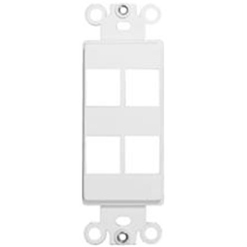 Morris Products 88118 Decorator Wallplate For Keystone Jacks And Modular Inserts Four Ports White