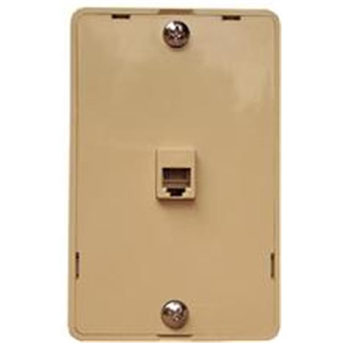 Morris Products 80030 Plastic Wall Phone Plate Ivory