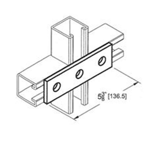 Morris Products 17624 3 Hole Splice Plate