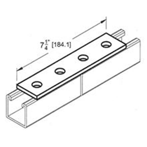 Morris Products 17626 4 Hole Splice Plate