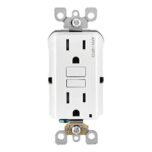 Leviton AGTR1-0KW AFCI-GFCI Dual Function Outlet White