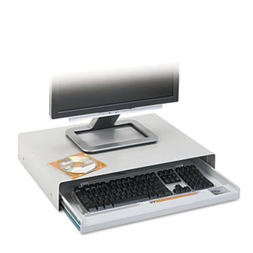 Innovera 53001 Standard Desktop Keyboard Drawer 22 in. x 15.59 in. x 3.54 in. Light Gray