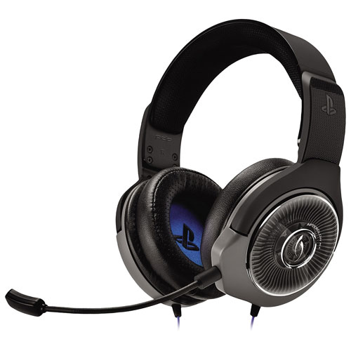 PDP Afterglow AG 6 Over-Ear Noise Cancelling Gaming Headset for PS4 - Black/Blue