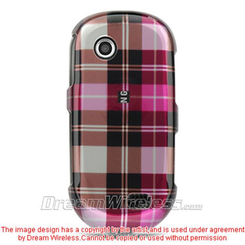 DreamWireless CASAMA697HPCK Samsung A697 Sunburst Crystal Case Hot Pink Checker