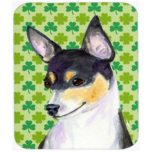 Carolines Treasures SS4449MP Chihuahua St. Patricks Day Shamrock Portrait Mouse Pad Hot Pad Or Trivet