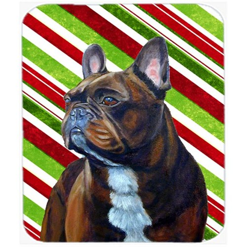 Carolines Treasures LH9250MP French Bulldog Candy Cane Holiday Christmas Mouse Pad Hot Pad Or Trivet