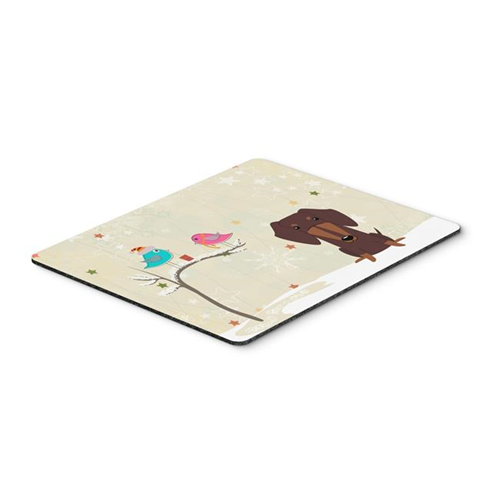 Carolines Treasures BB2603MP Christmas Presents Between Friends Dachshund Chocolate Mouse Pad Hot Pad or Trivet