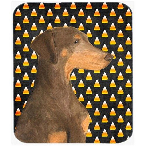 Carolines Treasures SS4272MP Doberman Candy Corn Halloween Portrait Mouse Pad Hot Pad Or Trivet