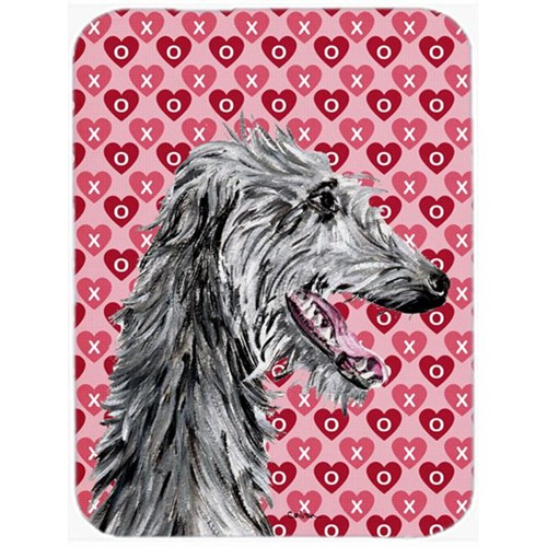 Carolines Treasures SC9717MP Scottish Deerhound Hearts And Love Mouse Pad Hot Pad Or Trivet 7.75 x 9.25 In.