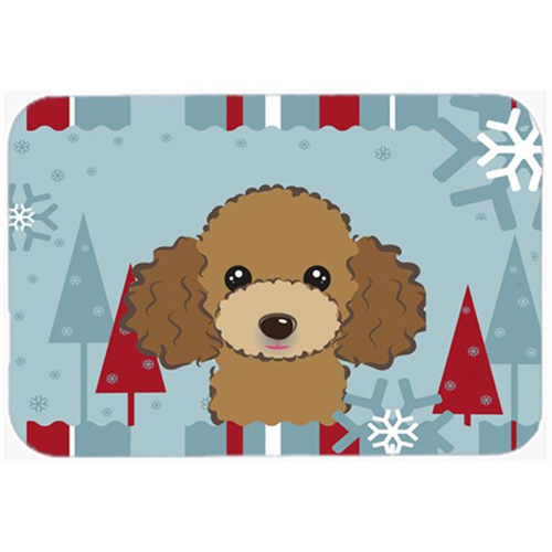Carolines Treasures BB1752MP Winter Holiday Chocolate Brown Poodle Mouse Pad Hot Pad & Trivet