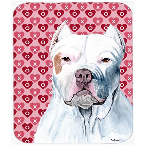 Carolines Treasures SC9258MP Pit Bull Hearts Love And Valentines Day Portrait Mouse Pad Hot Pad Or Trivet