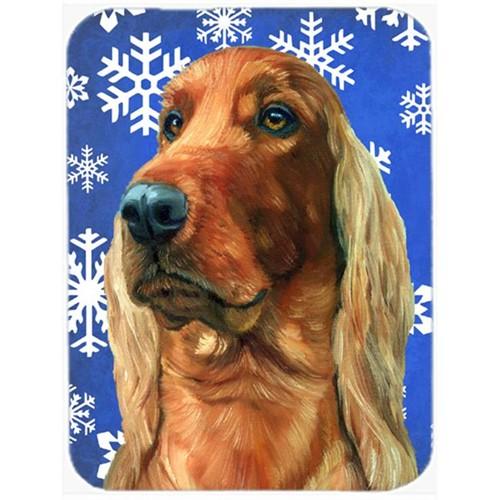 Carolines Treasures LH9583MP Irish Setter Winter Snowflakes Holiday Mouse Pad Hot Pad & Trivet