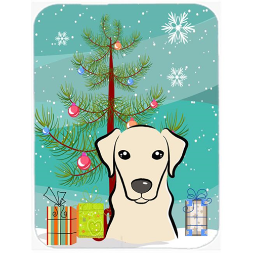 Carolines Treasures BB1594MP Christmas Tree And Yellow Labrador Mouse Pad Hot Pad & Trivet