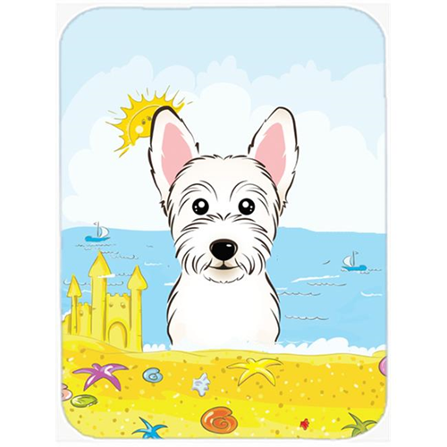Carolines Treasures BB2094MP Westie Summer Beach Mouse Pad Hot Pad or Trivet