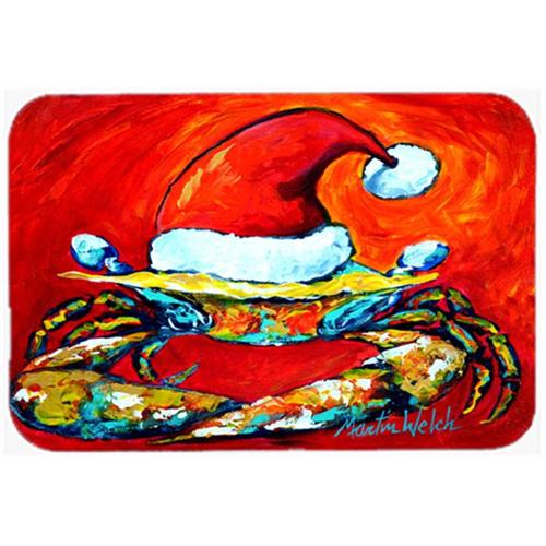 Carolines Treasures MW1169MP Crab in Santa Hat Santa Claws Mouse Pad Hot Pad or Trivet