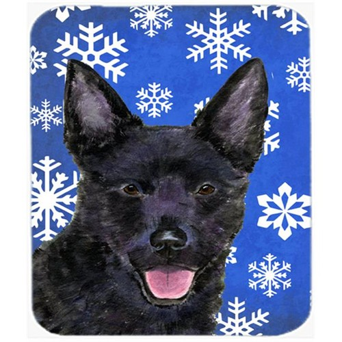 Carolines Treasures SS4636MP Australian Kelpie Winter Snowflakes Holiday Mouse Pad Hot Pad or Trivet