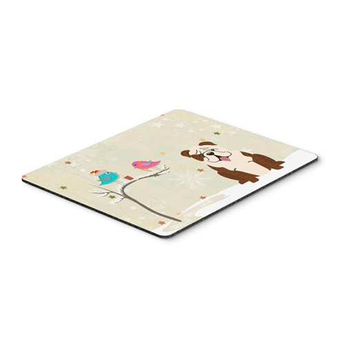 Carolines Treasures BB2593MP Christmas Presents Between Friends English Bulldog Brindle White Mouse Pad Hot Pad or Trivet