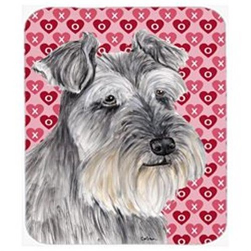 Carolines Treasures SC9246MP Schnauzer Hearts Love And Valentines Day Portrait Mouse Pad Hot Pad Or Trivet