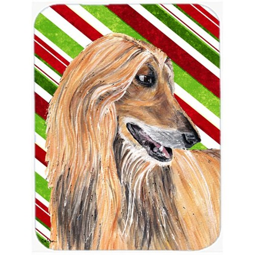 Carolines Treasures SC9498MP 7.75 x 9.25 In. Afghan Hound Candy Cane Holiday Christmas Mouse Pad Hot Pad Or Trivet