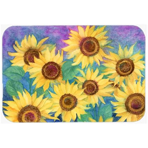 Carolines Treasures IBD0247MP Sunflowers & Purple Mouse Pad Hot Pad or Trivet