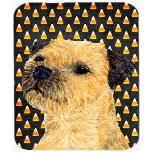 Carolines Treasures LH9064MP Border Terrier Candy Corn Halloween Portrait Mouse Pad Hot Pad or Trivet