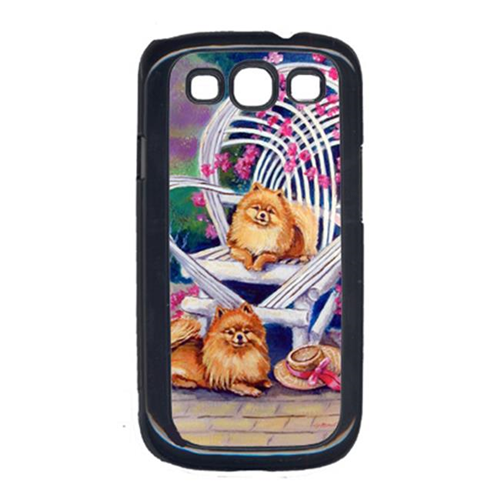 Carolines Treasures 7176GALAXYSIII Red Pomeranians On The Patio Cell Phone Cover Galaxy S111