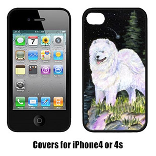 Carolines Treasures SS8498IP4 Starry Night Samoyed Iphone4 Cover