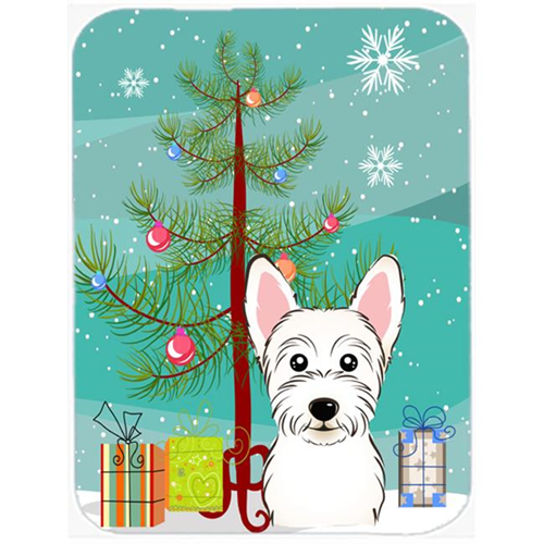 Carolines Treasures BB1598MP Christmas Tree And Westie Mouse Pad Hot Pad & Trivet