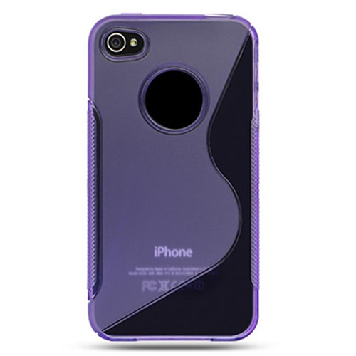 DreamWireless IP-CSIP4PP-MIX iPhone 4 Compatible Crystal Skin Case - Purple Mix Style