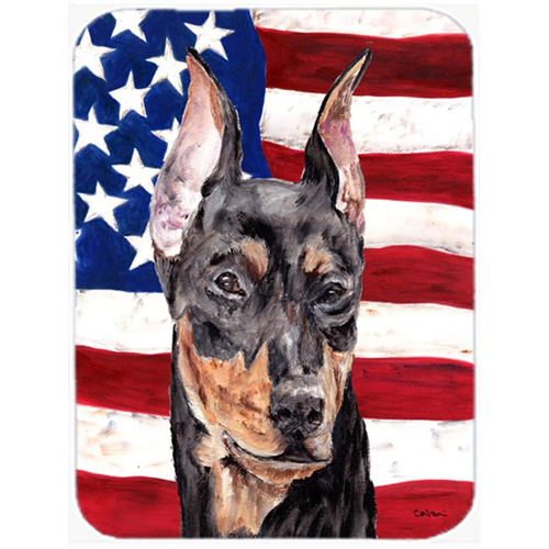 Carolines Treasures SC9644MP German Pinscher With American Flag Usa Mouse Pad Hot Pad Or Trivet 7.75 x 9.25 In.