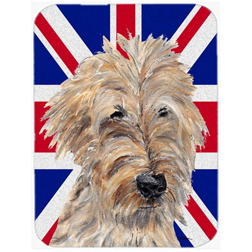 Carolines Treasures SC9859MP 7.75 x 9.25 In. Golden Doodle With English Union Jack British Flag Mouse Pad Hot Pad Or Trivet