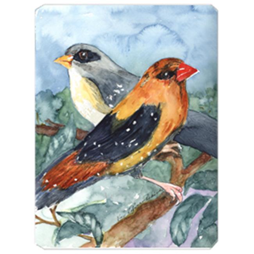 Carolines Treasures KR9017MP 9.5 x 8 in. Bird - Strawberry Finch Mouse Pad Hot Pad Or Trivet
