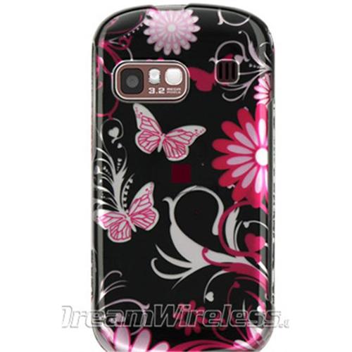 DreamWireless CASAMR900PKBF Samsung R900 & Craft Crystal Case Pink Butterfly