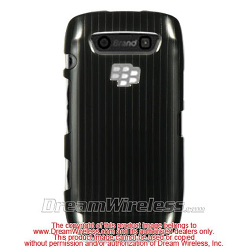 DreamWireless CABB9570BKLN Blackberry Torch 9850 9860 Monza Storm 3 Crystal Case Black Line