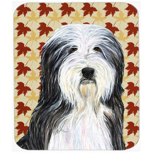 Carolines Treasures SS4359MP Bearded Collie Fall Leaves Portrait Mouse Pad Hot Pad Or Trivet