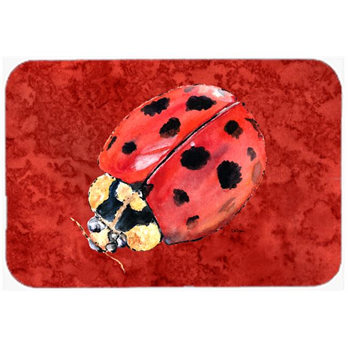Carolines Treasures 8870MP 9.5 x 8 in. Lady Bug on Deep Red Mouse Pad Hot Pad or Trivet