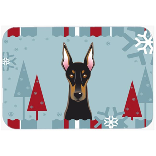 Carolines Treasures BB1741MP Winter Holiday Doberman Mouse Pad Hot Pad & Trivet