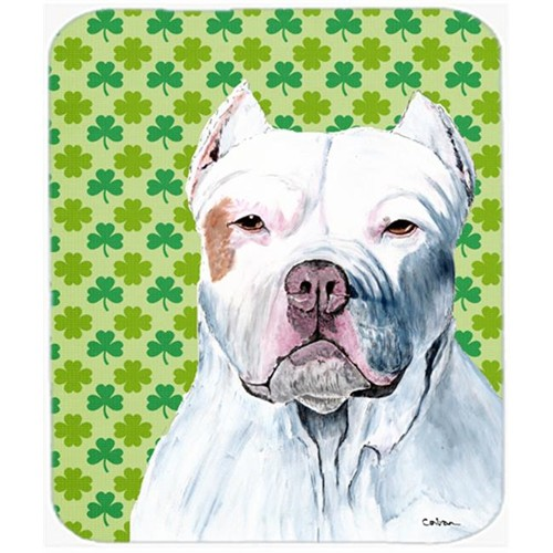 Carolines Treasures SC9301MP Pit Bull St. Patricks Day Shamrock Portrait Mouse Pad Hot Pad or Trivet