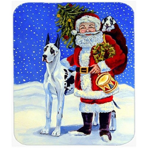 Carolines Treasures 7083MP 9.5 x 8 in. Harlequin Great Dane with Santa Claus Mouse Pad Hot Pad or Trivet