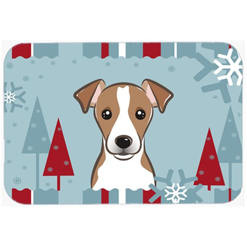 Carolines Treasures BB1756MP Winter Holiday Jack Russell Terrier Mouse Pad Hot Pad & Trivet