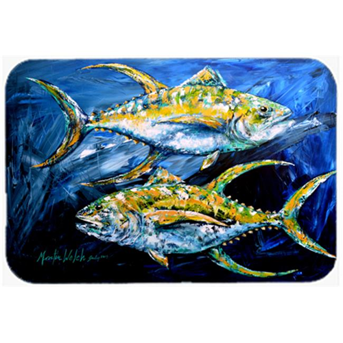 Carolines Treasures MW1125MP Fish - Tuna Tuna Blue Mouse Pad Hot Pad or Trivet
