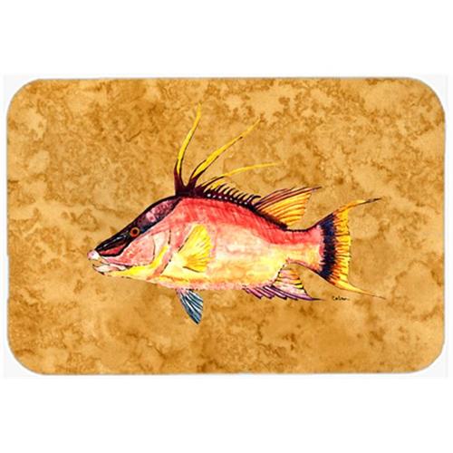 Carolines Treasures 8751MP Hog Snapper On Gold Mouse Pad Hot Pad & Trivet