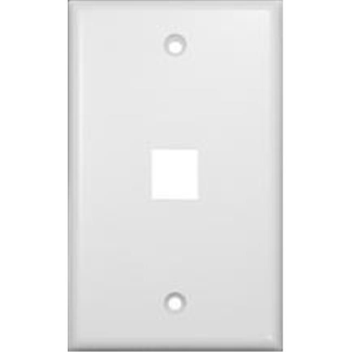 Morris Products 88162 Wallplate For Keystone Jacks And Modular Inserts One Port White