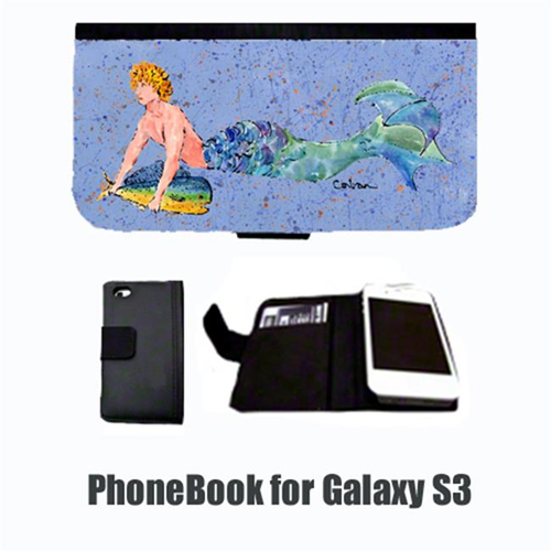Carolines Treasures 8347-NBGALAXYS3 Merman Blonde Hair Merman Cell Phonebook Cell Phone case Cover for GALAXY S3