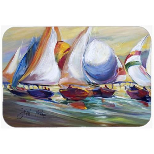 Carolines Treasures JMK1040MP Sailboat Race In Dauphin Island Mouse Pad Hot Pad & Trivet