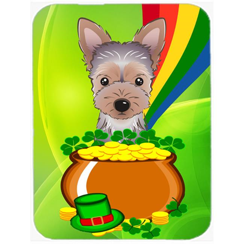 Carolines Treasures BB1976MP Yorkie Puppy St. Patricks Day Mouse Pad Hot Pad or Trivet